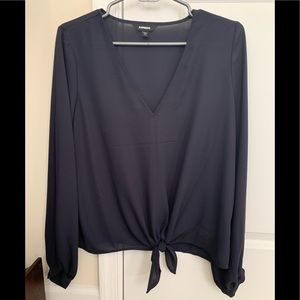Express tie front blouse